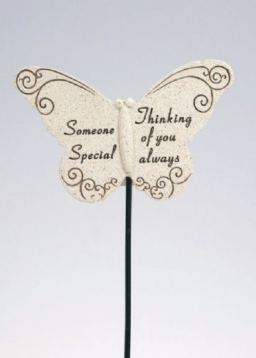 Special SOMEONE Butterfly Sentimental Memorial Grave Stick DF13264P
